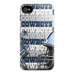 Excellent Design Dallas Cowboys Simple Logo Phone Case For Iphone 4/4s Premium Tpu Case