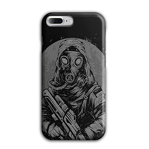 [Masked Terrorist Man Fight Fire NEW Black 3D iPhone 7 Plus Case | Wellcoda] (Terrorist Costumes)
