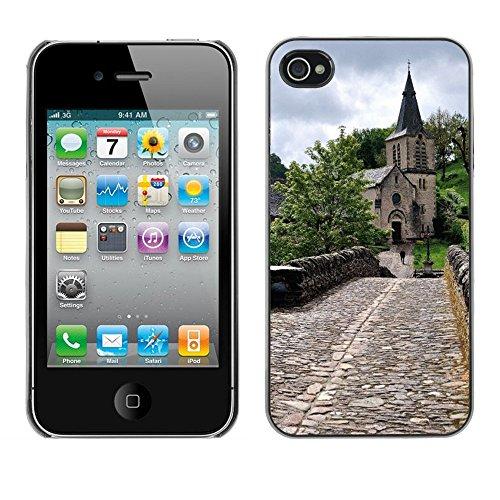 Premio Sottile Slim Cassa Custodia Case Cover Shell // F00008097 église // Apple iPhone 4 4S 4G