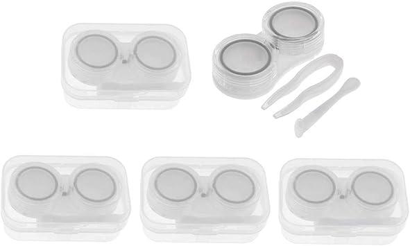 5 Unids Portátil Estuche para Lentes de Contacto Caja De Almacenamiento para Lentillas Rosa - Negro: Amazon.es: Salud y cuidado personal