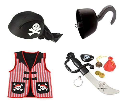 Pirate Role Play Dress up Set (10 Pieces) ()