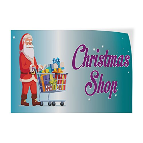 Decal Sticker Multiple Sizes Christmas Shop #1 Style A Lifestyle Shop Outdoor Store Sign Lavender - 48inx32in, Set of -