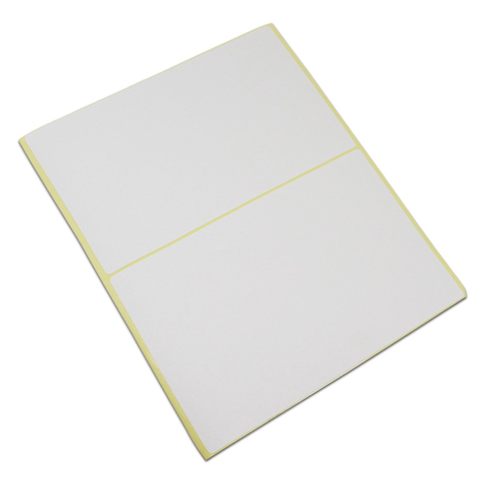 Blank Rectangle White Shipping Address Office Product Tags Self Adhesive School Note Name Mailing Supplies Labels Written Inventory Essential Stickers (4.1x6.0 inch / 150 pieces(75 sheets))