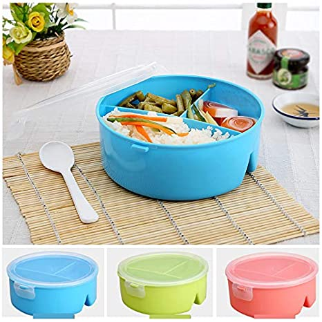 5a5ab793b047 Jars & Boxes - 1x Microwave Bento Lunch Box Spoon Utensils Picnic ...