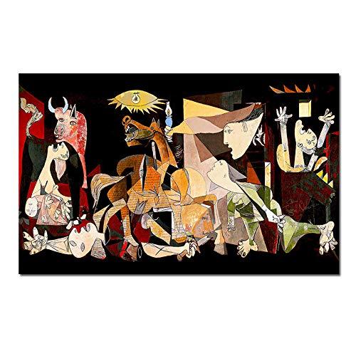 Abstracto Pinturas por Picasso Famosos Pared Arte Figura GeomeTrica Poster Impresiones Sala Dormitorio Decoracion Grandes Pared Cuadros 60x120cm No Marco