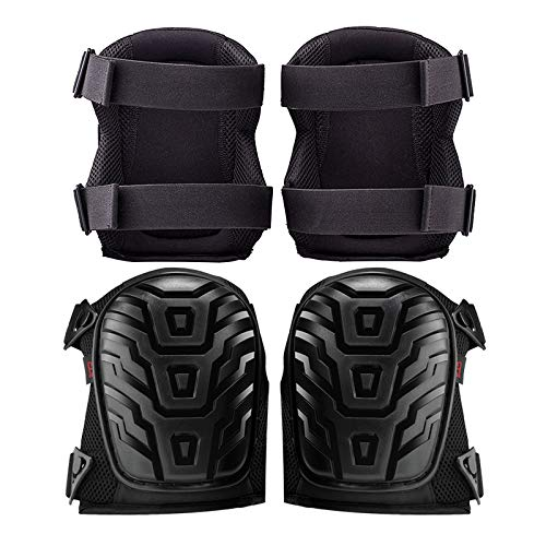 Rockland Guard Professional Knee Pads with Protective Knee Foam and Heavy Duty Soft Gel Cushion Padding for Work, Garden, Construction and Flooring Use - Adjustable Easy Clip On Straps by Rockland Guard (Image #7)