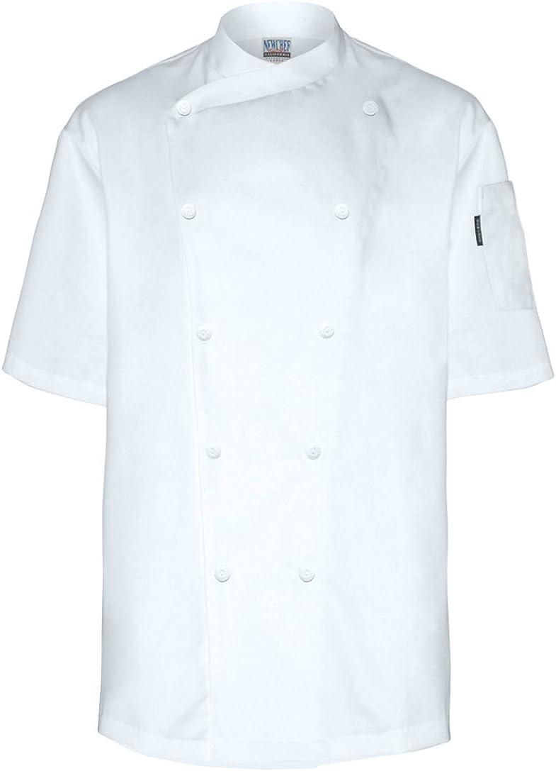 Newchef Fashion White Short Sleeves Chef Jacket