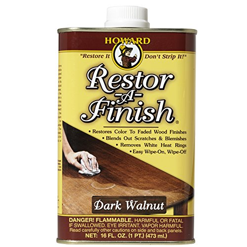 Howard RF6016 Restor-A-Finish, 16-Ounce, Dark (Traditional Dark Walnut Finish Wood)