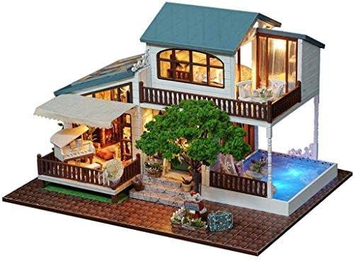 SHYPYG 家具、DIYドールハウスキットプラス防塵や音楽ムーブメント、ルームアイデアとドールハウスのミニチュア(詩的ライフ)