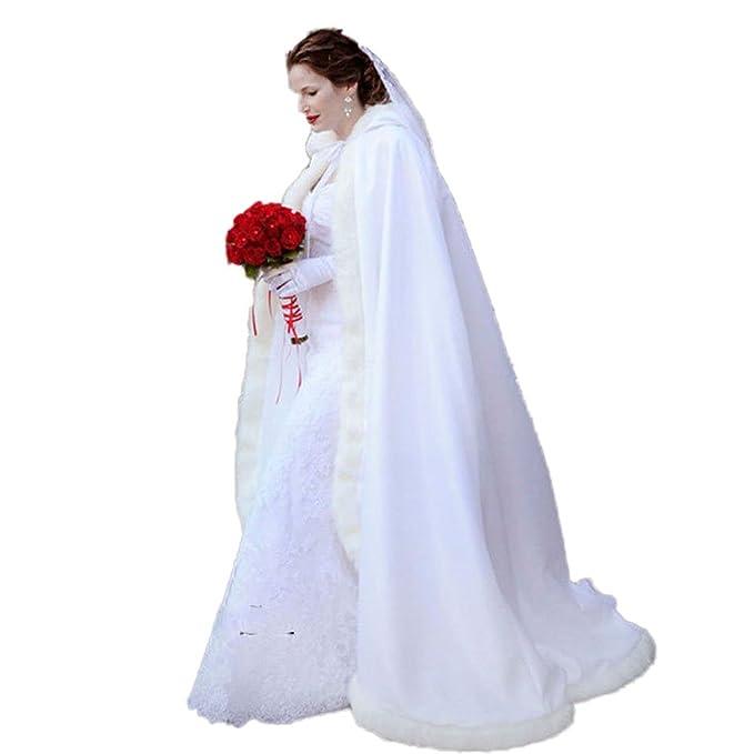 Coco Girls Caldo Inverno Pelliccia Lungo sposa Cappotto Bolero mantello  sposa stola sciarpa stola per abito e6dac16ba9d6