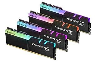 G.Skill TridentZ RGB Series 32GB (4 x 8GB) 288-Pin DDR4 2400MHz (PC4 19200) Desktop Memory F4-2400C15Q-32GTZR