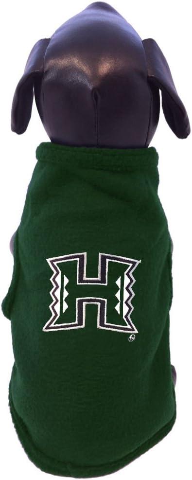 NCAA Hawaii Rainbow Warriors Sleeveless Polar Fleece Dog Sweatshirt X-Small