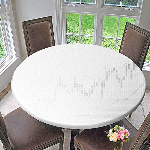 PINAFORE HOME Premium Tablecloth Candle Stick Graph Chart of Stock Market Investment Everyday Use 40