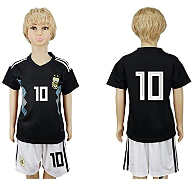 Muzuly 2018 Russia Word Cup Argentina National Football Team #10 Kids Soccer Jersey HQQY 2GYMX3-A