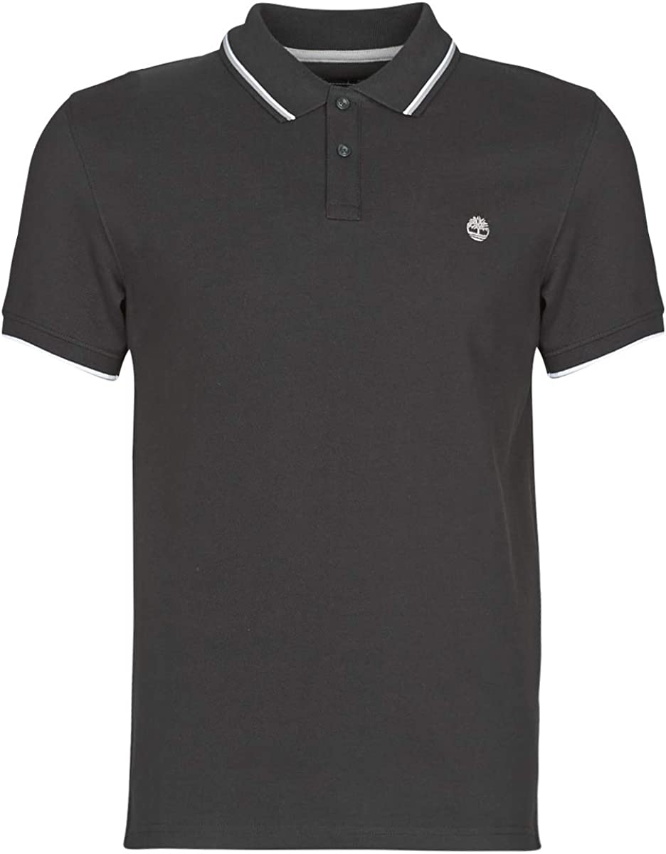 buscar Abreviar Equipo de juegos  Timberland Men's Millers River Tipped Polo Shirt in Black at Amazon Men's  Clothing store