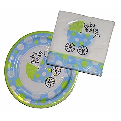 Baby Shower Plate: Baby Shower Napkins And Plates: Amazon.com