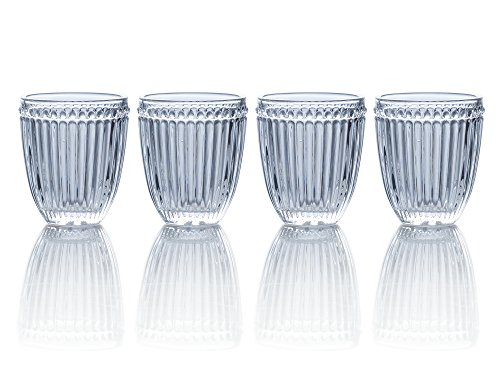Mikasa Italian Countryside Double Old Fashioned Glass, Clear, 10-Ounce, Set of 4 (Fashioned Old Gem Double)
