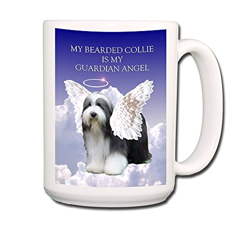 Bearded Collie Guardian Angel Coffee Tea Mug 15 oz Funny