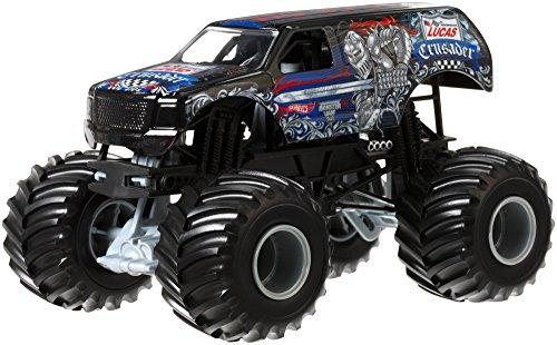Hot Wheels Monster Jam Lucas Oil Crusader Die-Cast Vehicle, 1:24 Scale