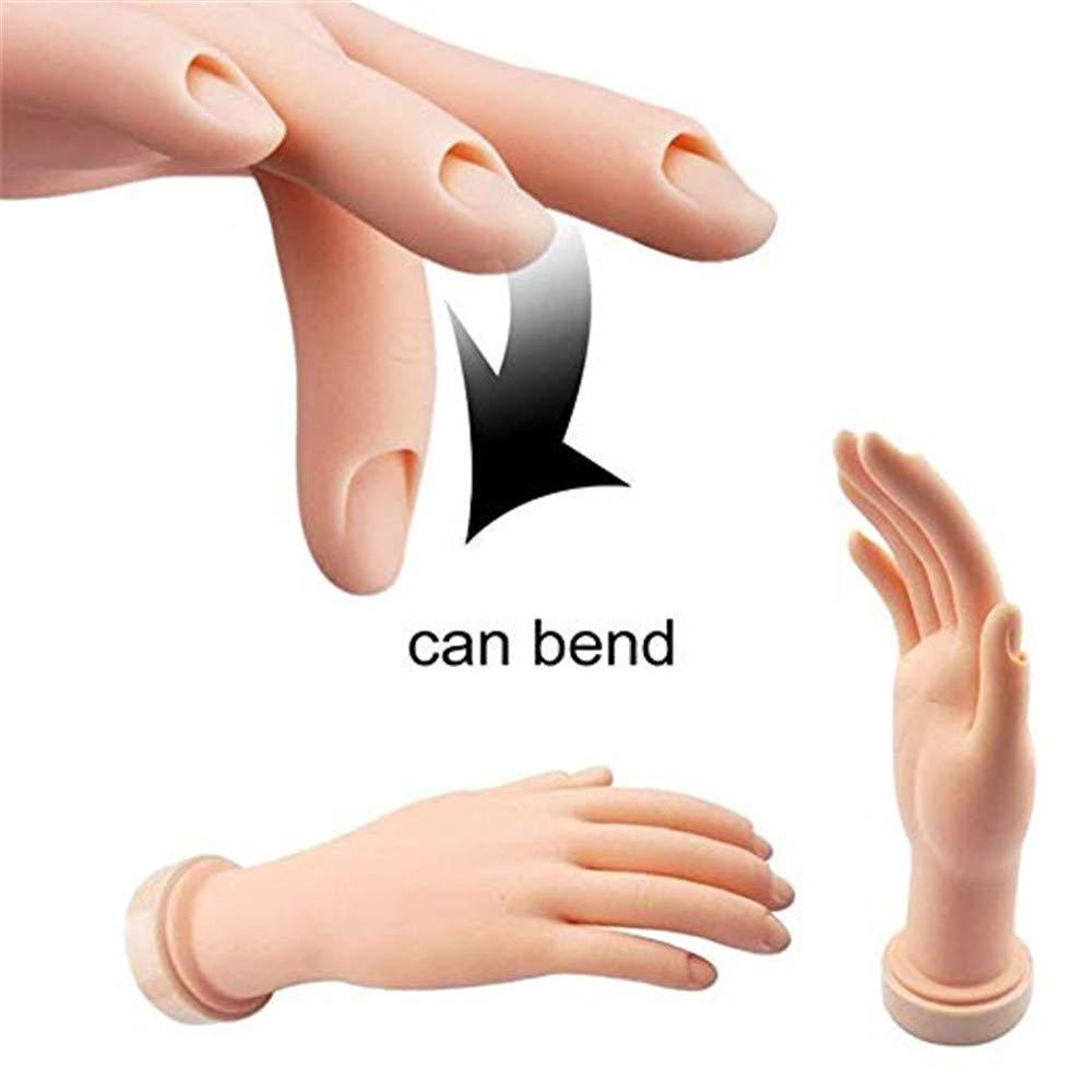 Amazon.com : Vastitude Nail Art Training Hand Flexible Movable Fake ...