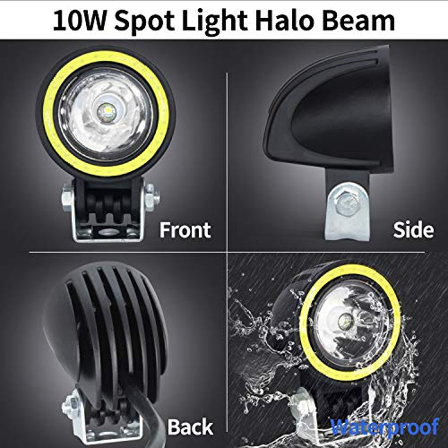 automotive, lights & lighting accessories, accent & off road lighting,  light bars  picture, Motorcycle LED Fog Lights,20W Driving Spot Lights Round Cree LED Offroad Motorcycle Bike Lights with Halo Ring for Truck Car ATV Jeep deals5