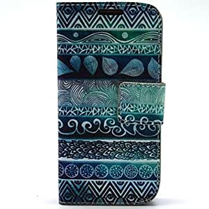 LCJ Finger Flower Pattern PU Leather with Case and Card Slot for Samsung S4 Mini I9190