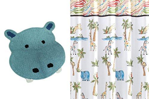 Saturday Knight Safari Hippo Rug With Safari Fabric Shower C
