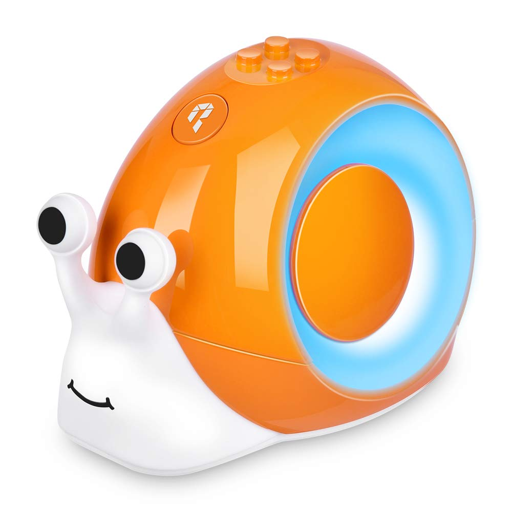 Robobloq Smart Snail RC Robot Toy for Steam Programmable Education, Easy Coded with Puzzle Card, Color Flashing Shell, Compatible with Major Building Block Toys