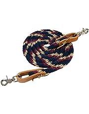 Weaver Leather Poly Roper Rein, Navy/Tan/Burgundy, 5/8 x 8'