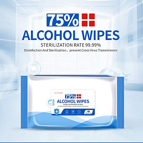 HCCX Wet Wipes, 75% Portable Alcohol Wet Wipes, Special Disinfectant Cleaning Disinfectant, 40PCS / Bag