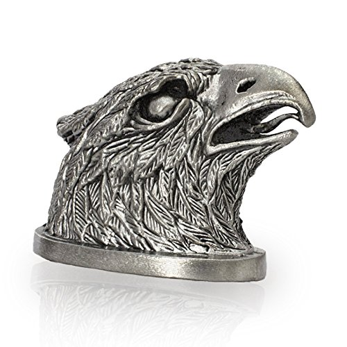 Knife Pommel EAGLE Bolster for Making Custom Handles - Hand-Cast in Nickel Silver (Melchior) - Used with Any Blades - Unique Author's Design (Cast Silver)
