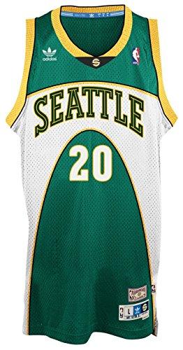 Adidas Gary Payton Seattle Supersonics NBA Throwback Swingman - Camiseta - Green, XL: Amazon.es: Deportes y aire libre