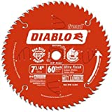 D0760A 7-1/4-Inch 60T Ultra Finish Work Table Saw Blade - 1