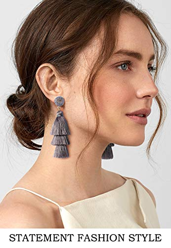 Colorful 3 Layered Earrings