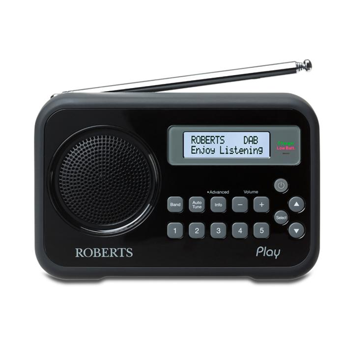 roberts radio play dab dab fm rds digital radio with. Black Bedroom Furniture Sets. Home Design Ideas