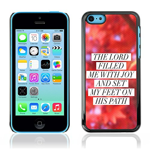 DREAMCASE Citation de Bible Coque de Protection Image Rigide Etui solide Housse T¨¦l¨¦phone Case Pour APPLE IPHONE 5C - THE LORD FILLED ME WITH JOY