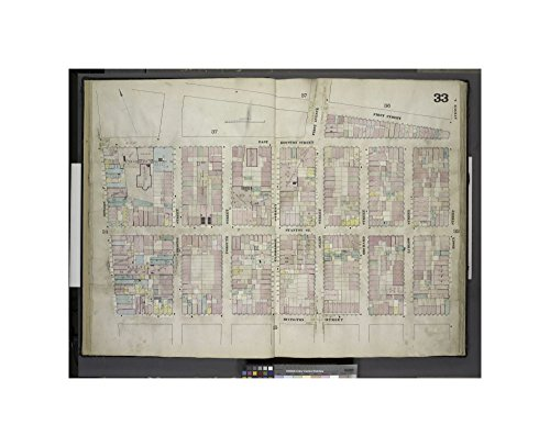 map of Plate 33: Map bounded by First Street, Essex Street, Rivington Street, Bowery; Including Stanton Street, Christie Street, Forsyth Street, Eldridge Street, First Avenue, Allen Street, - Avenues Forsyth Of