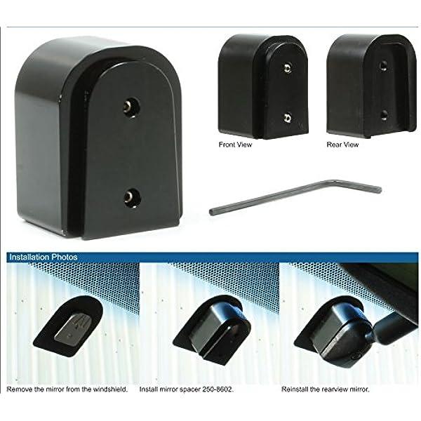 Mito Gentex 50-BRKTEXT Wedge Mount Extension Windshield Mirror Bracket Adapter