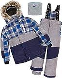 Deux par Deux Boys' 2-Piece Snowsuit Forest Runner Gray, Sizes 5-14 - 8
