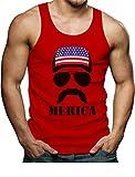 Tstars American Flag Cap Hat - Cool 4th of July Merica Singlet Large Red