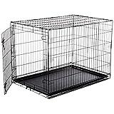 AmazonBasics Single-Door Folding Metal Dog Crate - Large (42x28x30 Inches)