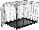 AmazonBasics Single-Door Folding Metal Dog Crate - Large (42x28x30 Inches)