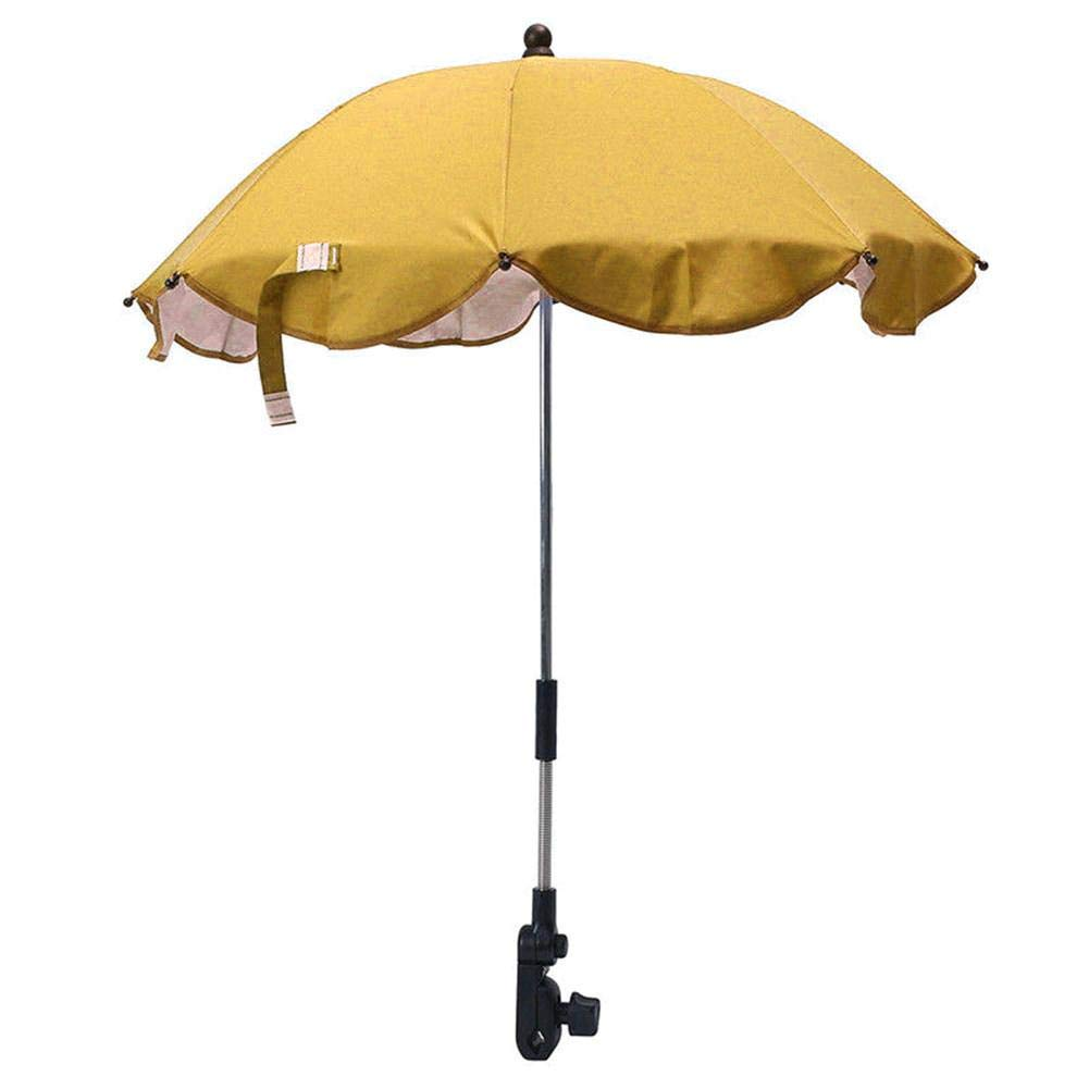 UV Schutz 50 Universal Sonnenschirm Sonnenschutz F/ür Kinderwagen /& Buggy Durchmesser//biegsam//Universalhalterung F/ür Rund Und Ovalrohre
