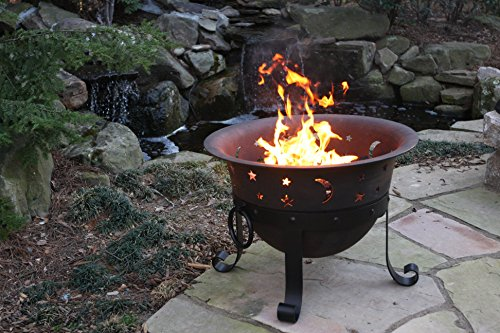 Catalina Creations Heavy Duty Cast Iron Fire Pit with Cover and Accessories, 29'' by Catalina Creations (Image #1)