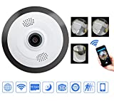 Mbangde Mini HD 960P Wireless Wifi IP Camera, 360 Degree Panoramic Fisheye 1.3MP Security Camera Support Phone APP Control