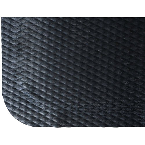 Hog Heaven - M+A Matting Black Nitrile PVC Foam Hog Heaven Anti-Fatigue Mat - 5'L x 3'W x 7/8 H