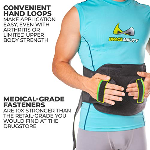 BraceAbility LSO Back Brace for Herniated, Degenerative & Bulging Disc Pain Relief, Sciatica, Spine Stenosis | Medical Lumbar Support Device for Post Surgery & Fractures with Hot/Cold Therapy (S) by BraceAbility (Image #5)