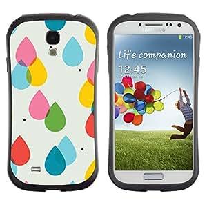 Hypernova Slim Fit Dual Barniz Protector Caso Case Funda Para SAMSUNG Galaxy S4 IV / i9500 / i9515 / i9505G / SGH-i337 [Pluie Rose Jaune Polka Dot Summer]