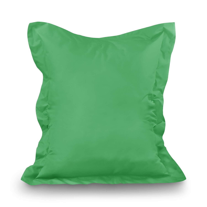 Puf XL de XXXXL Asiento Cojín Cojín de suelo Saco de en Y Exterior, verde claro, XXL=160 x 120