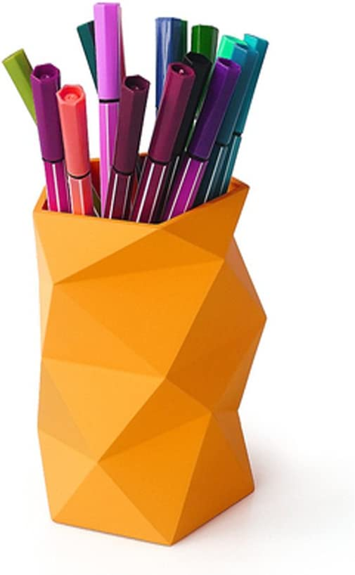 Creative Design Silicone Pen and Pencil Container (Orange)